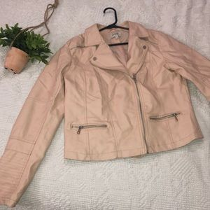 Charlotte Russe Large Light Pink Leather Jacket